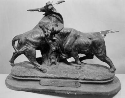 Combat de taureaux romains