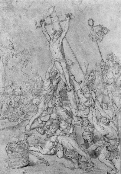 Erection de la croix