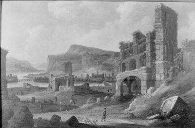 Paysage en ruines