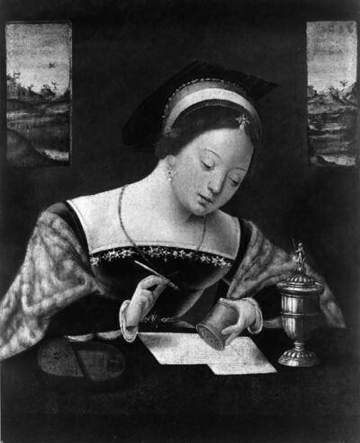 Schrijvende vrouw (Maria Magdalena?)