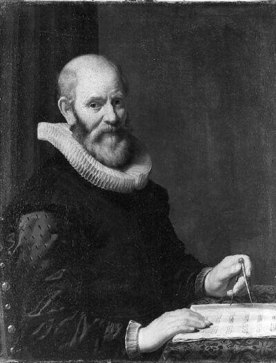 Portret van architect C. Danckerts