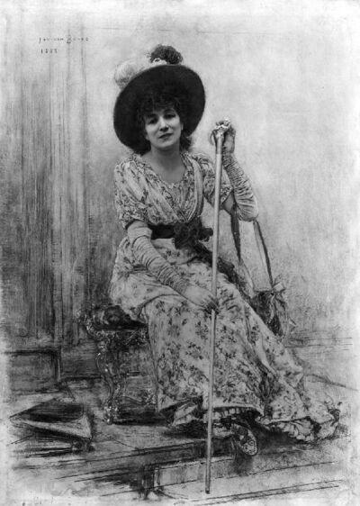 Portrait de Madame Sarah Bernhardt, artiste dramatique française