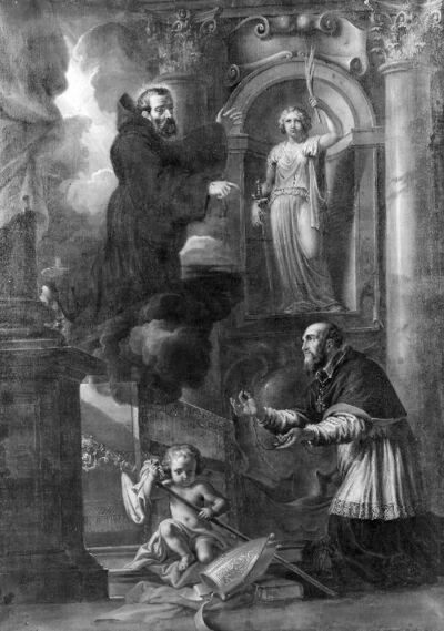 De verschijning van de heilige Franciscus aan de heilige Carolus Borromeus