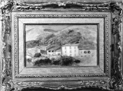 Paysage à Cagnes (avec maisons)
