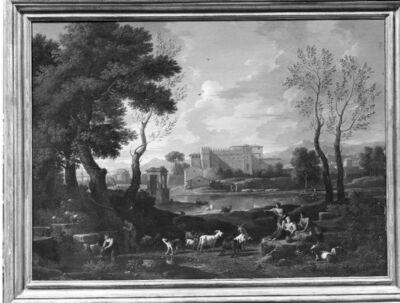 Landschap met het Vatikaans Belvedere