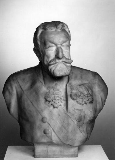 Portrait en buste d'Emile de Mot, bourgmestre de Bruxelles (1835-1909)