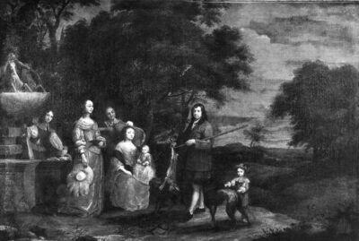 Familieportret in een landschap