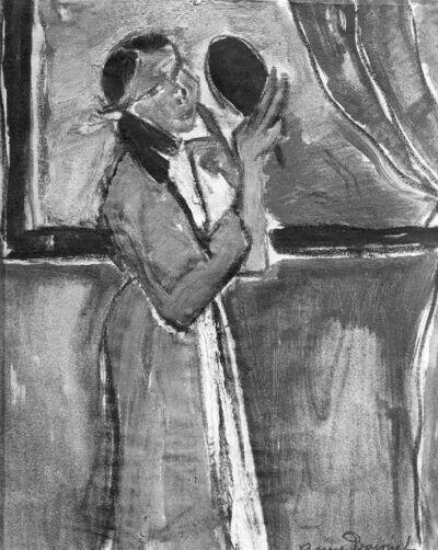 La fillette au miroir