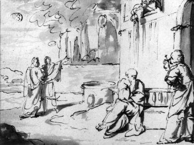 Socrates en Xanthippe