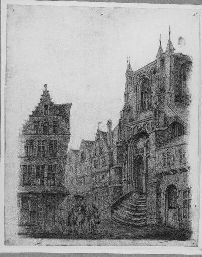 Zicht op de Sint-Pauluskerk te Antwerpen