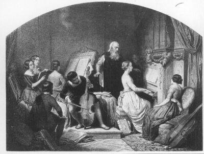 Image from object titled Adrien Willaert de Bruges dirigeant une de ses compositions musicales