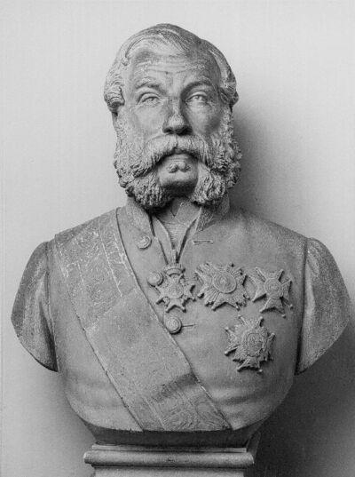 Portrait en buste du comte Louis-Charles de Baillet, gouverneur de la province de Namur (1812-1875)