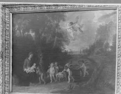 Offer der engelen aan het kind Jezus
