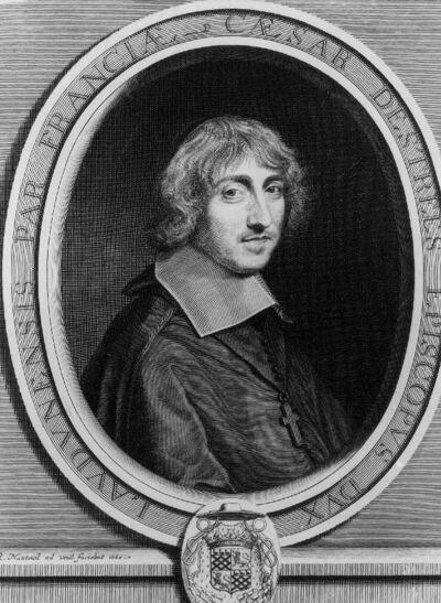 Portrait de César d'Estrées évêque et duc de Laon