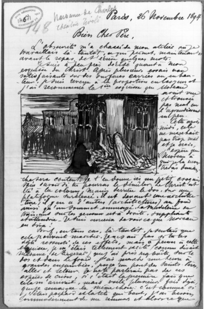 Lettre 148 du 26 novembre 1894 Le Christ à la colonne