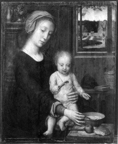 La Vierge à la soupe au lait