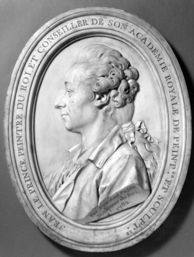 Portrait en buste, de profil de Jean-Baptiste Le Prince, peintre