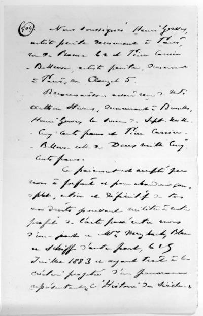 Lettre de Pierre Carrier-Belleuse & Henri Gervex