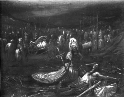 Alexandre le Grand pleurant  Cyrus