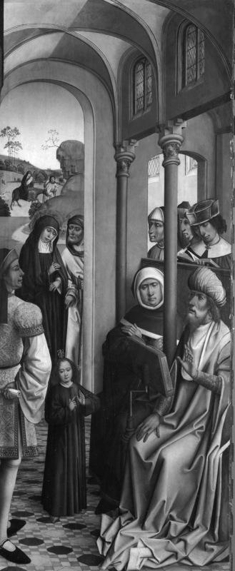 Retabel van de abdij van Affligem Christus tussen de schriftgeleerden
