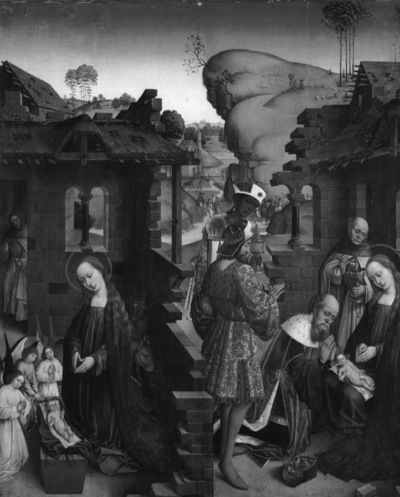 Retabel van de abdij van Affligem Geboorte en Aanbidding der Wijzen