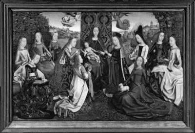 Vierge et Enfant parmi les Saintes