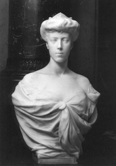 Borstbeeld van Koningin Elisabeth I van België