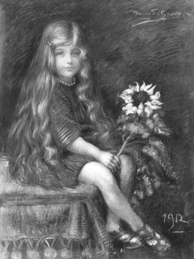Jong meisje met zonnebloem