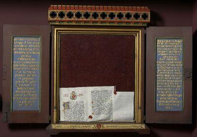 Reliektriptiek met mantel van de H. Brigitta