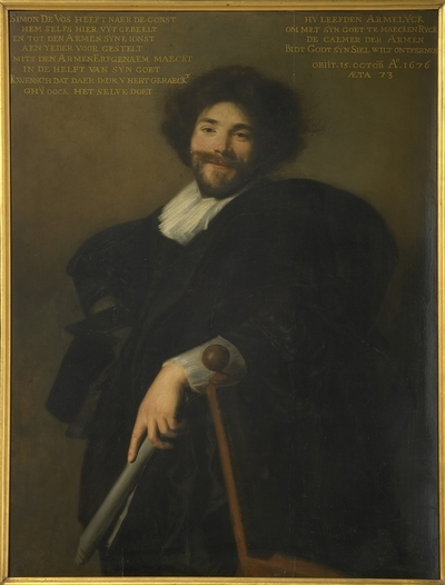 Portret van kunstschilder Simon de Vos