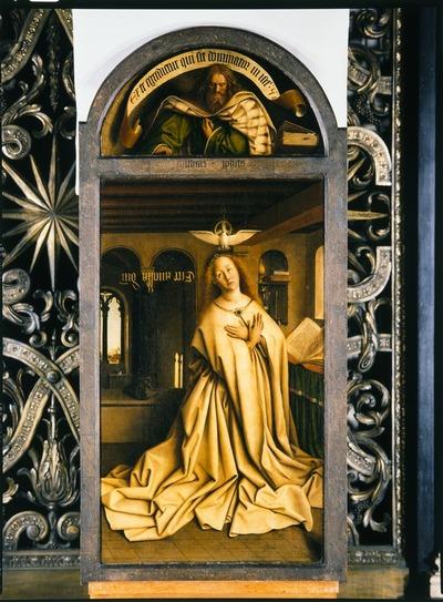 Lam Gods: Maria van de Boodschap en de profeet Michaja