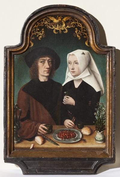 Portret van de kunstenaar en zijn echtgenote