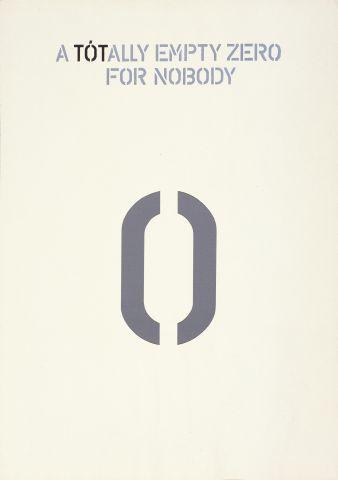 A totally empty zero for nobody