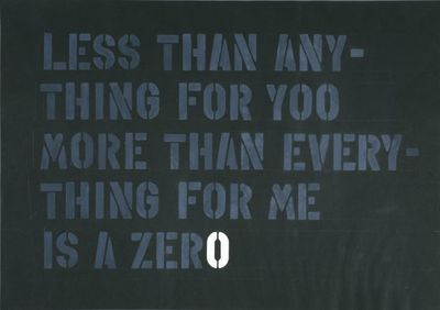 Less than anything for yoo more than everything for me is zero