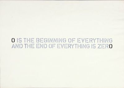 O is beginning of everything and the end of everything is zero