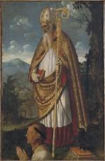 San Benedetto e un devoto; dipinto
