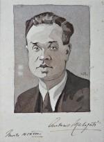 Ritratto di Antonio Malaguti; acquerello