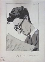 Ritratto di Augusto Campana; acquerello