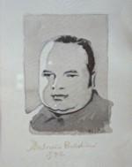 Ritratto di Antonio Baldini; acquerello