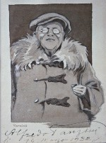 Ritratto di Alfredo Panzini; acquerello