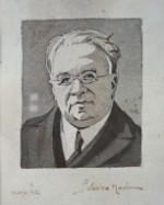 Ritratto di Salvatore Montanari; acquerello