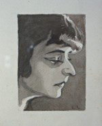 Ritratto di donna (Teresa Franchini ?); acquerello