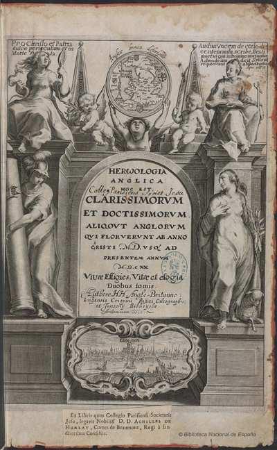 HEROOLOGIA ANGLICA [Material gráfico] : [portada e ilustraciones]