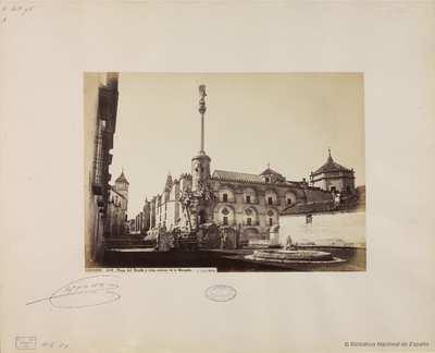 Cordoba, Plaza del Triunfo y vista esterior [sic] de la mezquita [Material gráfico]