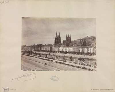 Burgos, vista de Burgos tomada desde el Museo Provincial