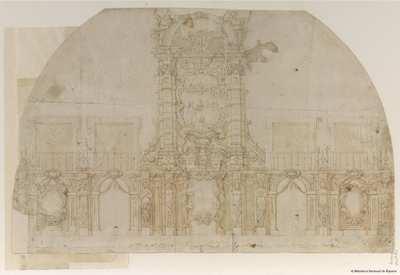[Decoración efímera para la entrada en Madrid de María Luisa de Orleans] [Material gráfico]