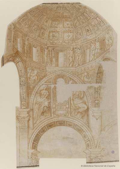 [Proyecto de crucero y cúpula de la iglesia de san Matteo, Génova] [Material gráfico]