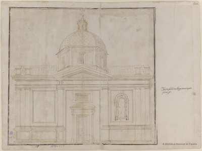 [Proyecto de fachada lateral para la iglesia de San Matteo, Génova] [Material gráfico]