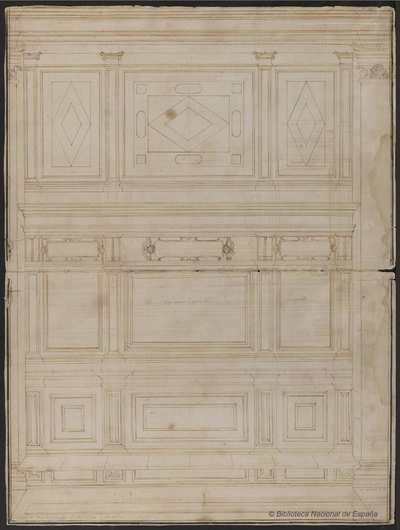 [Alzado del lateral del presbiterio de la iglesia de San Matteo, Génova] [Material gráfico]