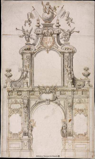 [Arco de triunfo para la entrada de Felipe V en Madrid] [Material gráfico]
